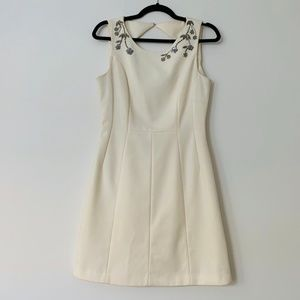 White Sleeveless Cocktail Dress
